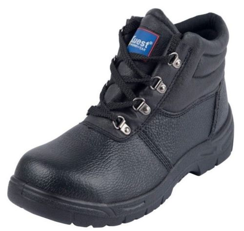 Chukka Safety Work Boots Leather Steel Toe Cap