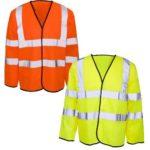 Hi Viz Long Sleeved Safety Vest Surrey Bedfordshire