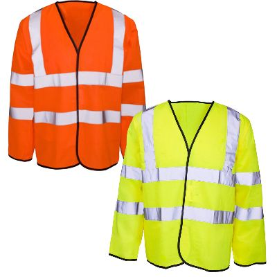 Hi Viz Long Sleeved Safety Vest Surrey Bedfordshire