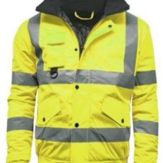 High Visibility Bomber Work Jacket glasgow
