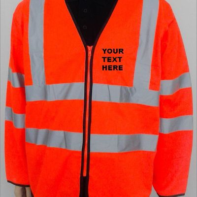 High Visibility Long Sleeves Zip Front Safety Vest holland
