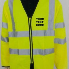 High Visibility Long Sleeves Zip Front Safety Vest spain