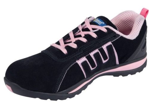 Mens Safety Basic Trainers pink