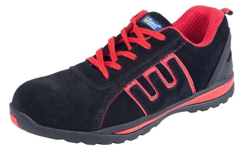Mens Safety Basic Trainers red