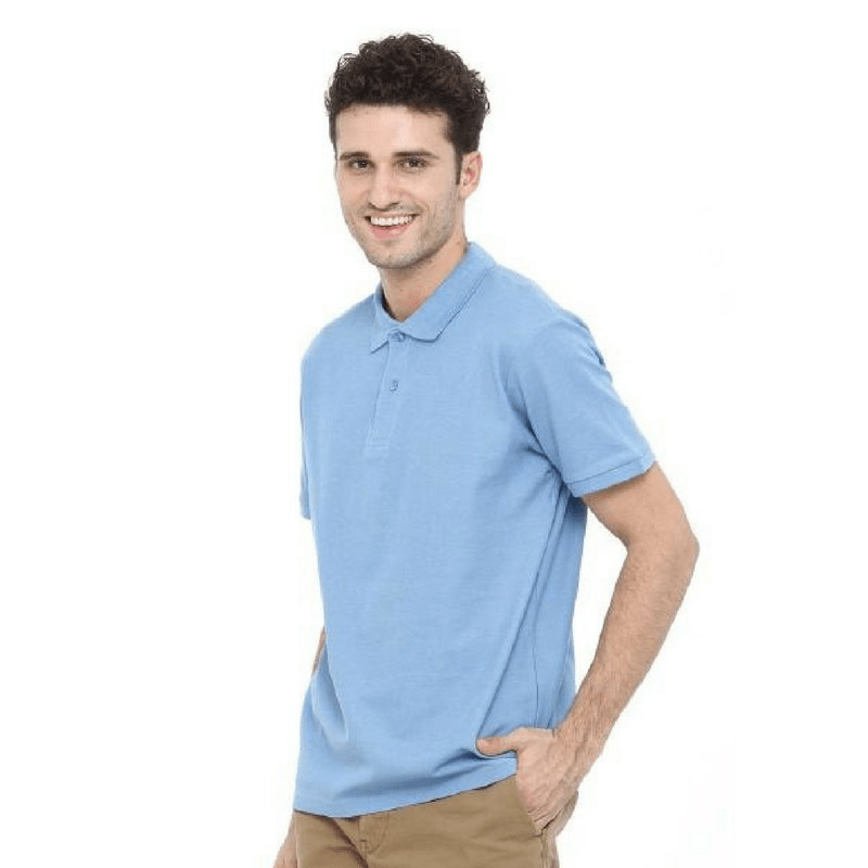 Mens Short Sleeved Polo Cotton Shirt 12 Colours MPS180