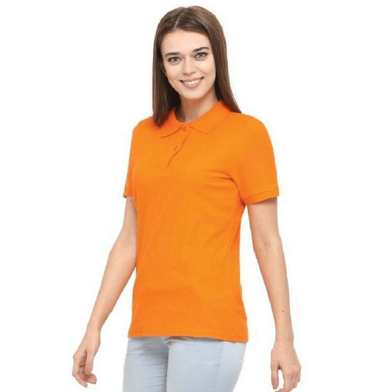 Womens Short Sleeved Polo Cotton Shirt WPS140