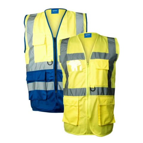 Executive-High-Visibility-Safety-Vests-Hi-Viz-Waistcoat-With-Pockets-and-ID-Holder