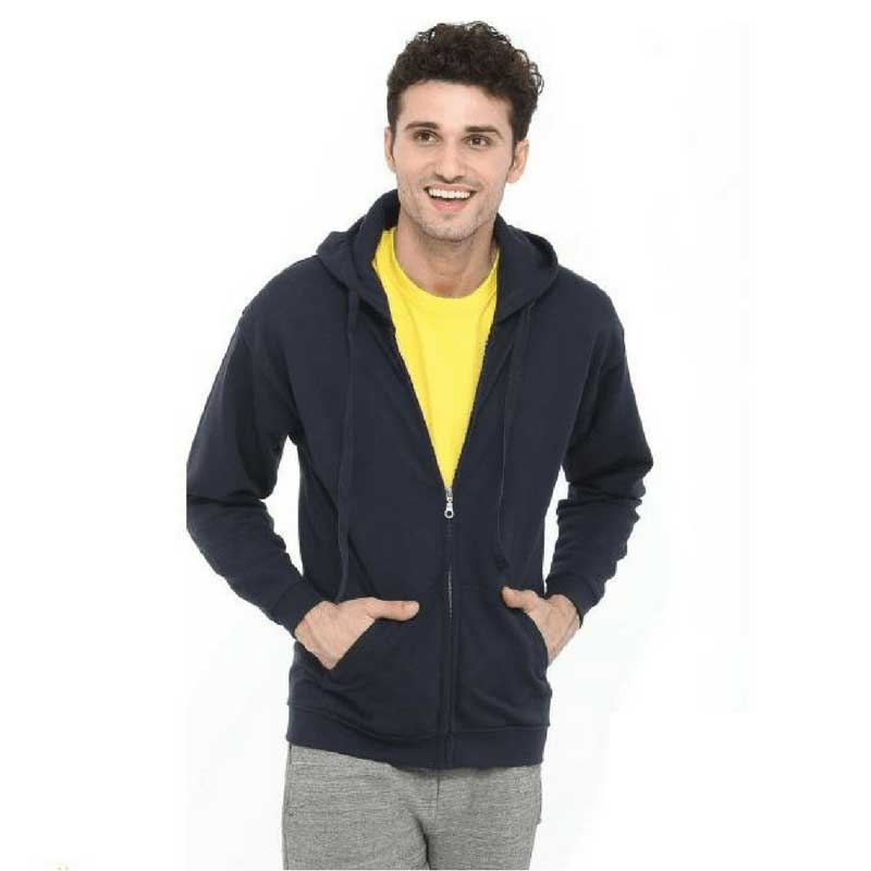 Mens-Hooded-Sweatshirt-Full-Zip-9-Colours-SWZ280