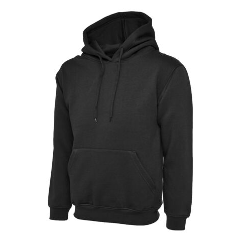 Uneek-UC501–Premium-Hooded-Sweatshirt-black