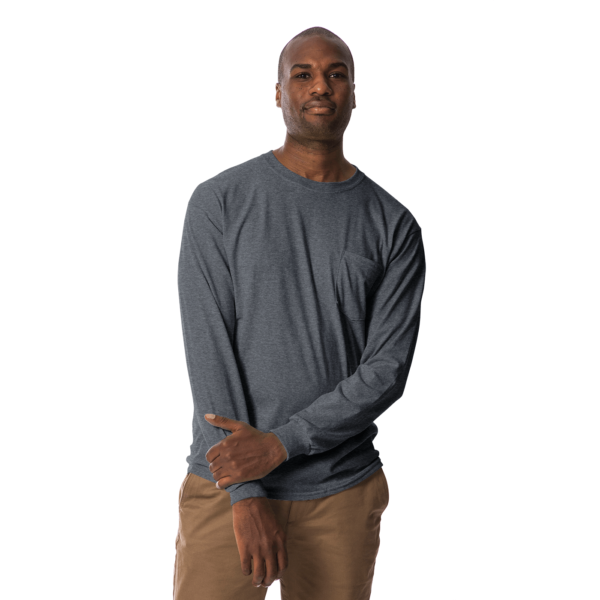 long polo t shirt dark heather