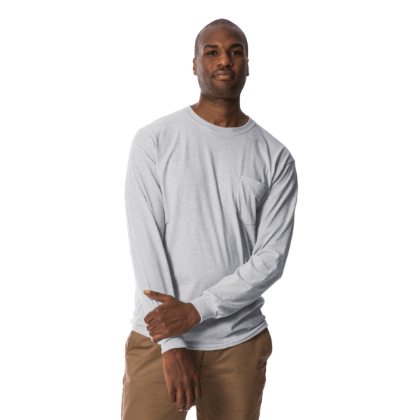 long polo t shirt grey