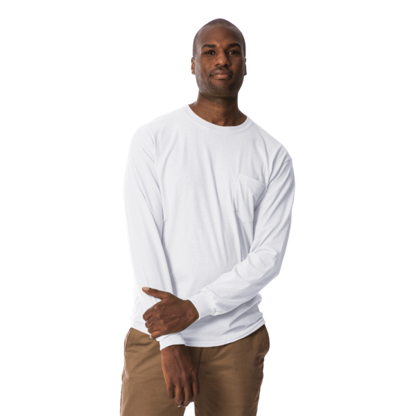 long polo t shirt white