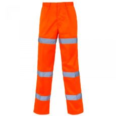 3 band orange hi vis trousers