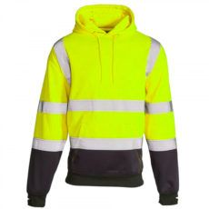 HI-VIS-2-TONE-HOODED-SWEATSHIRT-yellow