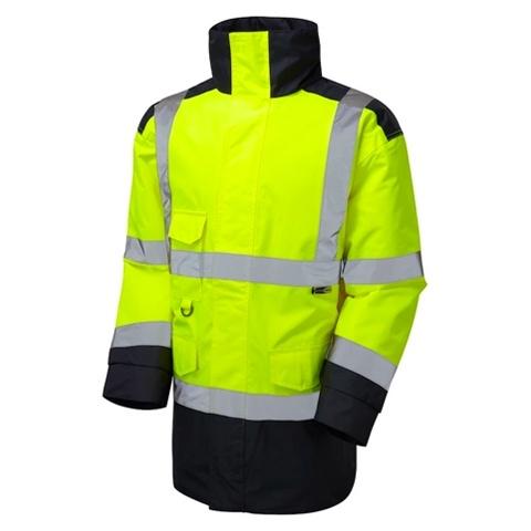 leo workwear 2 tone hi vis jacket