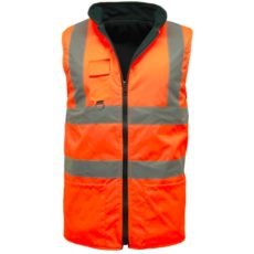 hi vis reversible fleece sleeveless body warmer