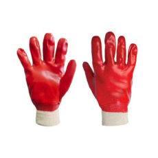 warrior red pvc gloves